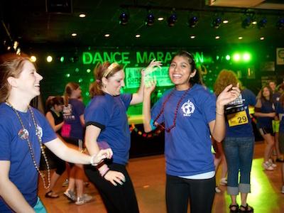 Dance Marathon fundraiser participants