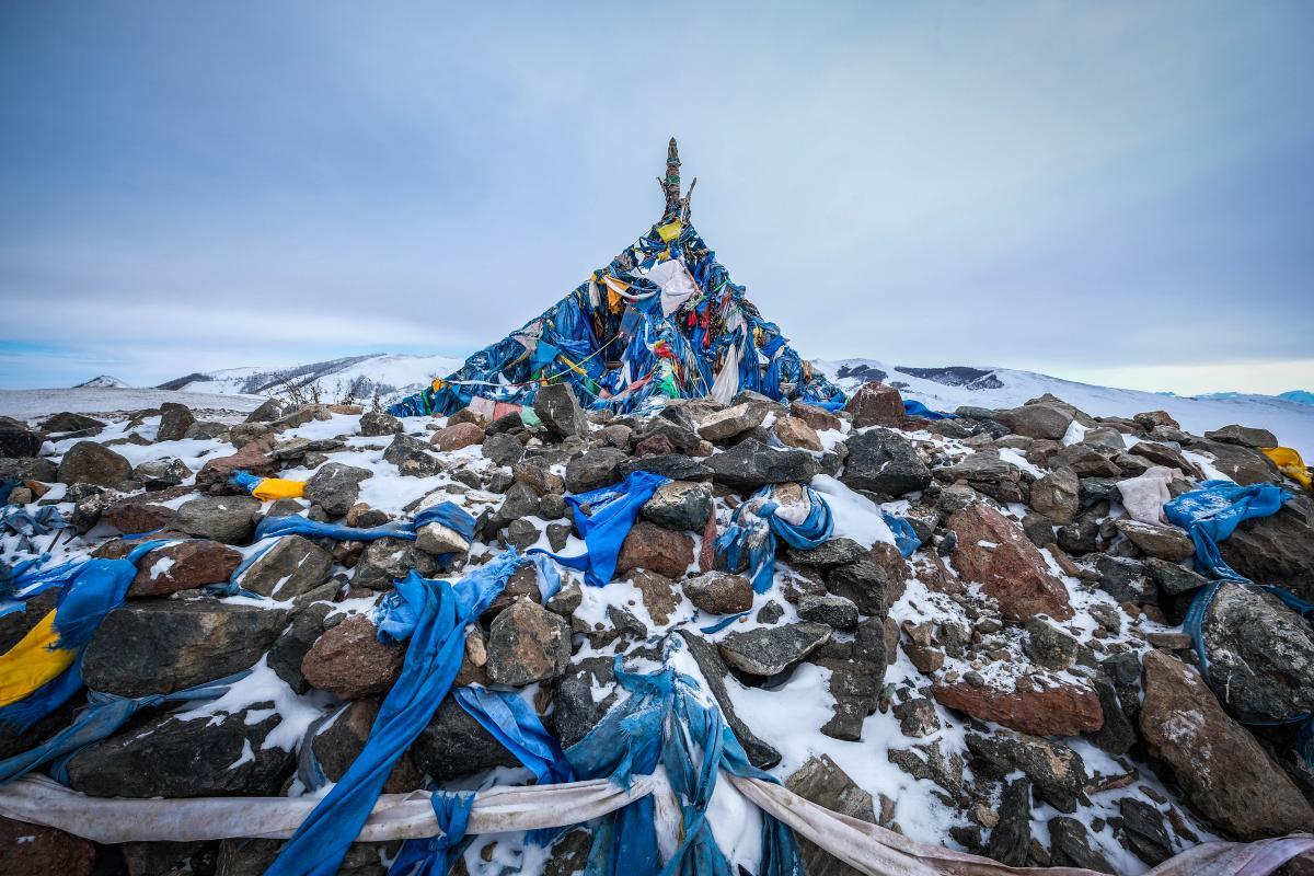 A Mongolian Ohvooh in Uvs Province near Russia.
