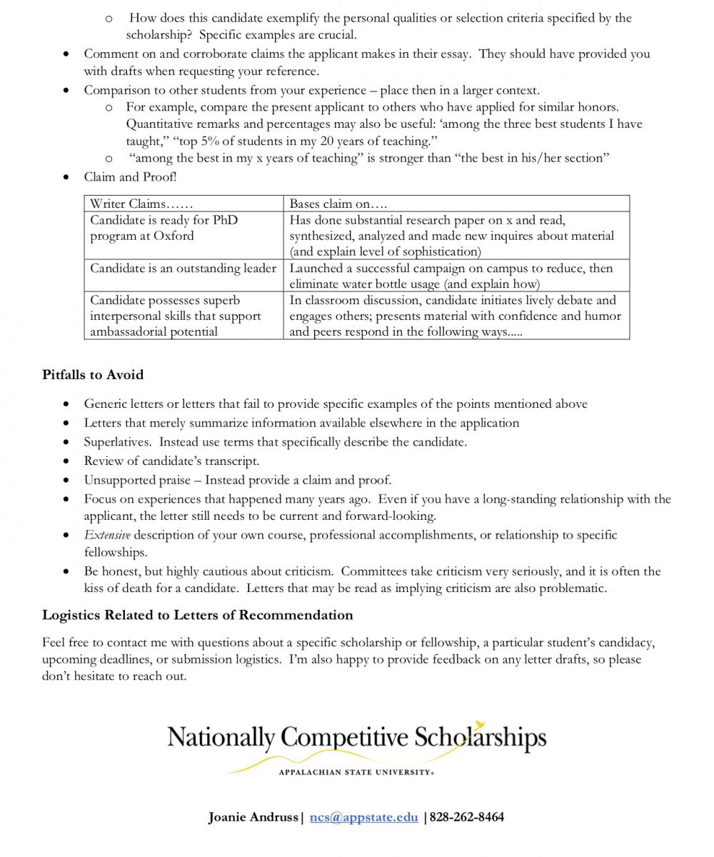 Letter Of Recommendation Guidelines from ncs.appstate.edu
